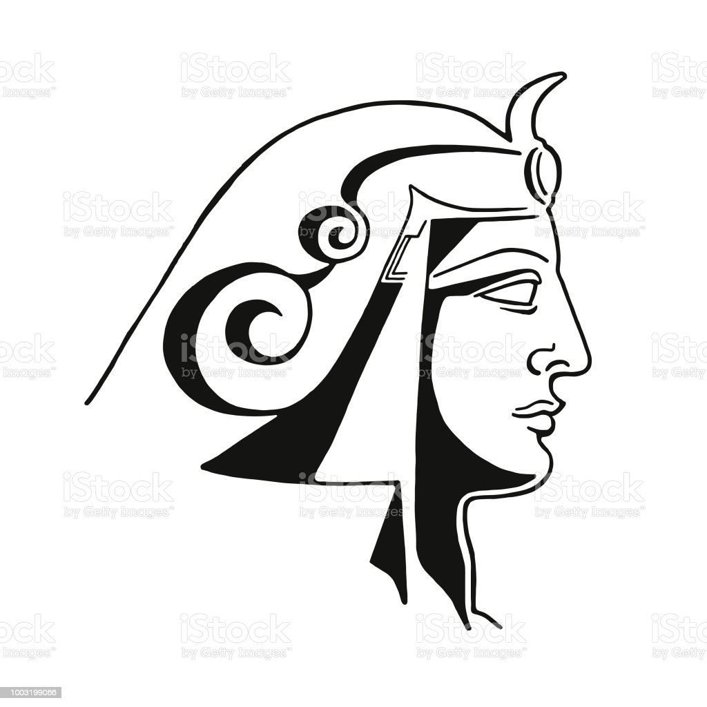 profile of an egyptian ruler stock vector art more images of Greek Art profile of an egyptian ruler royalty free profile of an egyptian ruler stock vector art