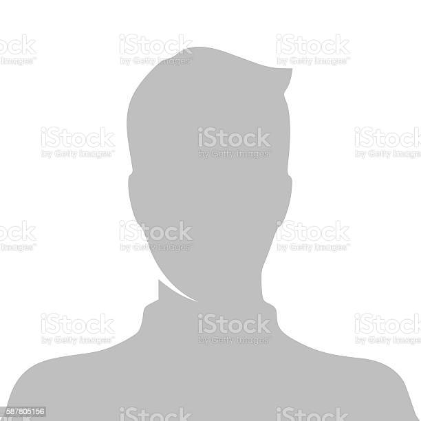 Profile picture vector illustration isolated on white background
