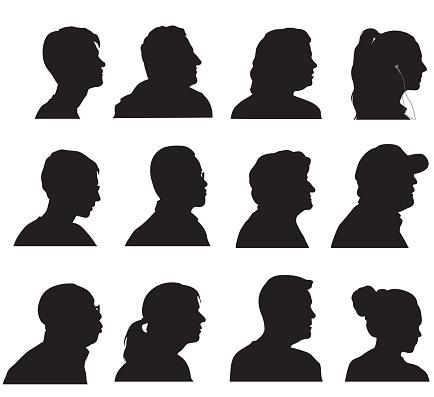 Profile Silhouette Heads
