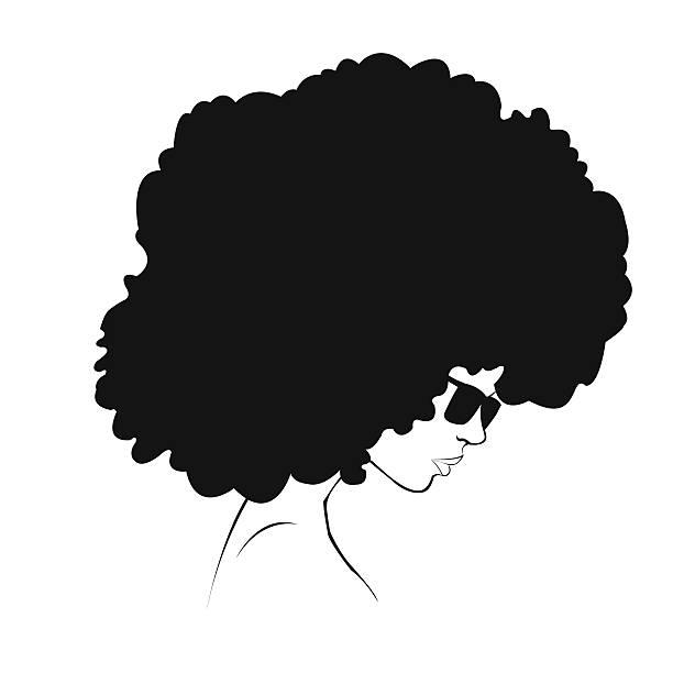 profile silhouette of girl vector art illustration