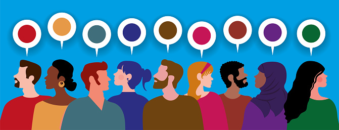 Profiles of People of Different Ethnicities with Colorful Ideas
