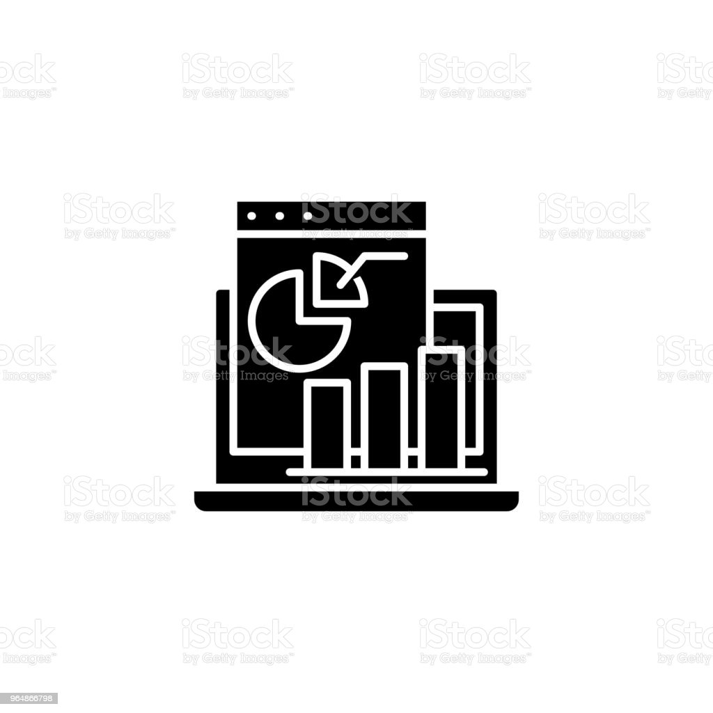 Profit and loss statement black icon concept. Profit and loss statement flat  vector symbol, sign, illustration. royalty-free profit and loss statement black icon concept profit and loss statement flat vector symbol sign illustration stock vector art & more images of accountancy