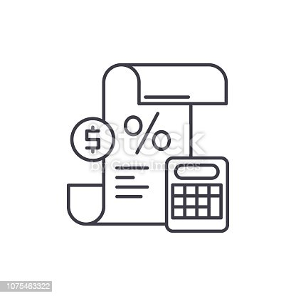 Profit and loss statement line icon concept. Profit and loss statement vector linear illustration, sign, symbol