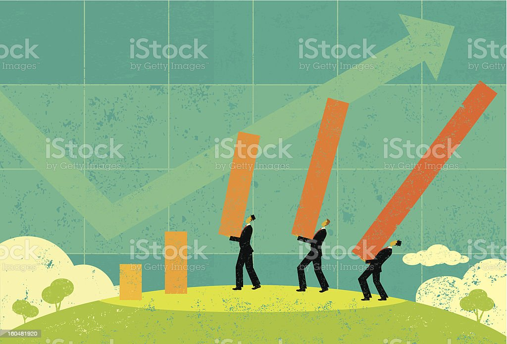 Profit Projections royalty-free stock vector art