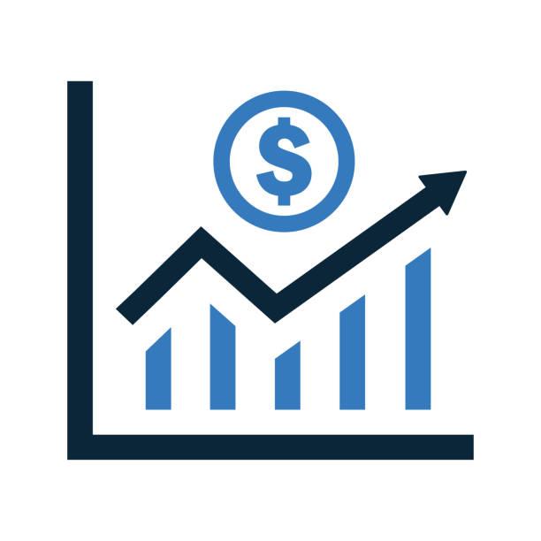 ilustrações, clipart, desenhos animados e ícones de ícone das estatísticas de lucros, gráfico de crescimento de ganhos - conceitos e temas
