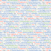 Program code - programming script vector background stock illustration.  script, HTML