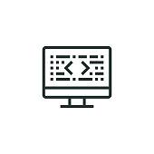 istock Program Coding Line Icon 1316046315