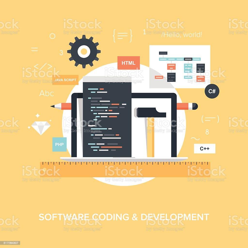 Program Coding. vector art illustration
