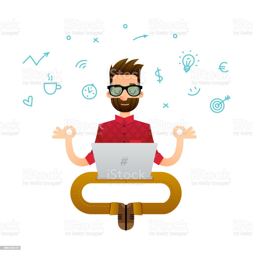 Programmer Cartoon Character Stock Vector Art More Images Of Adult