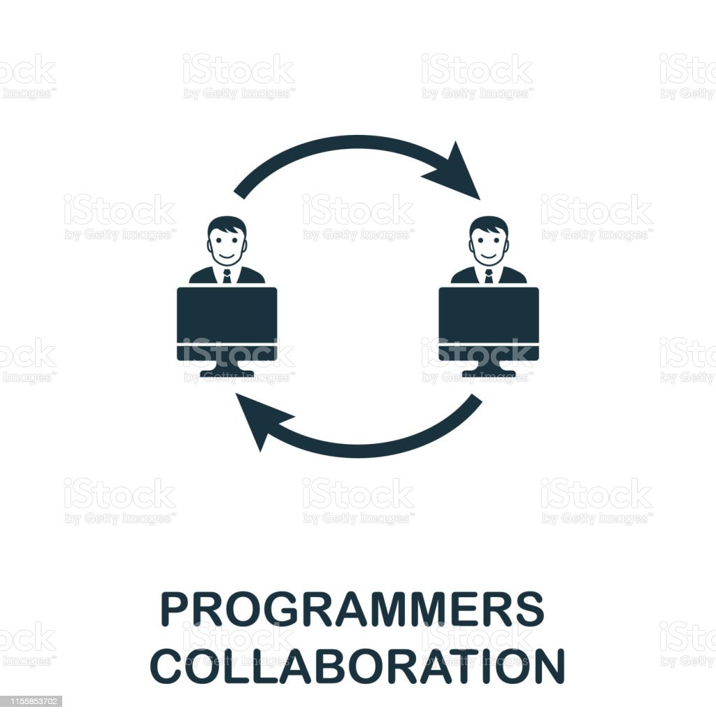 Programmers Collaboration icon. Creative element design from...