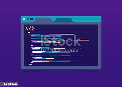 istock Programming Code Application Window 1124838925
