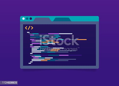 istock Programming Code Application Window 1124838925