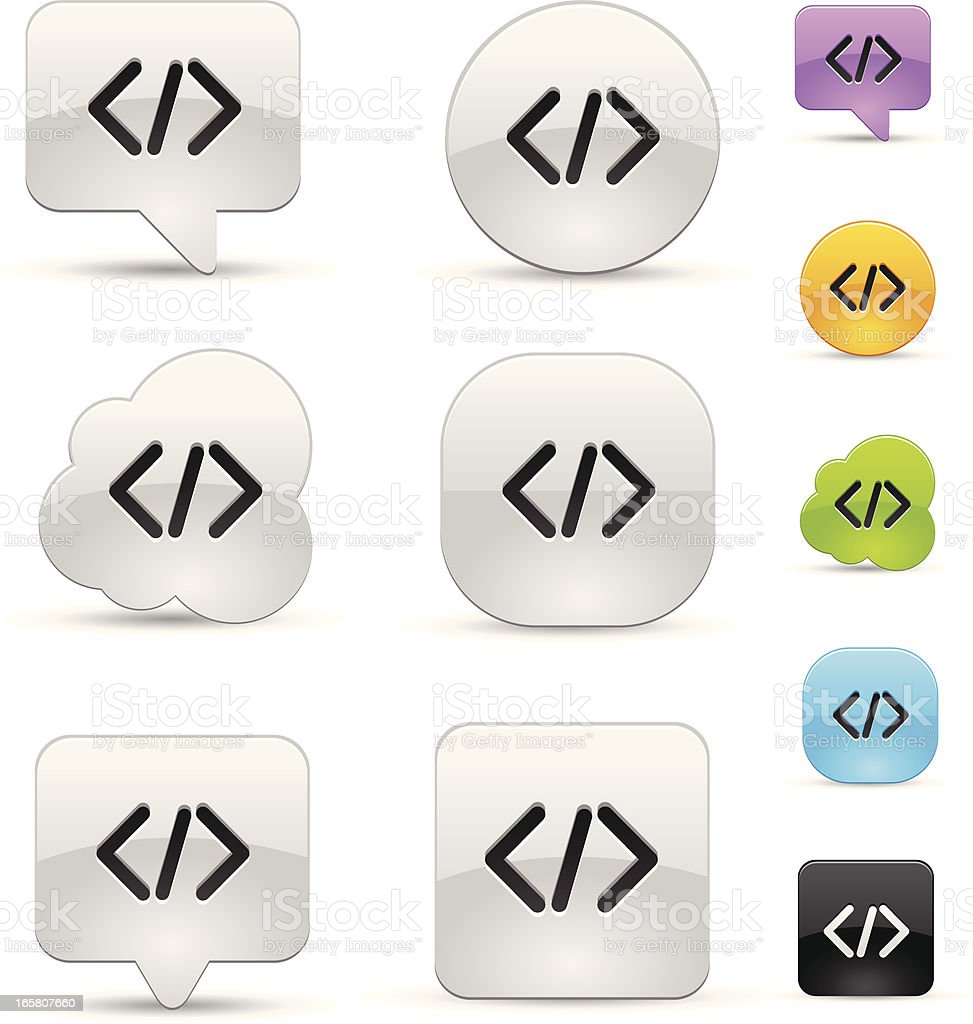Programming code icons royalty-free stock vector art