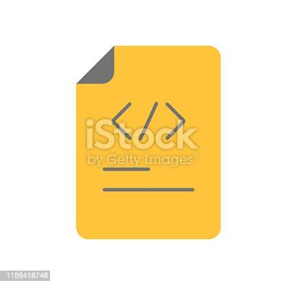 Programming code vector. Document Icon - Programming Source Code