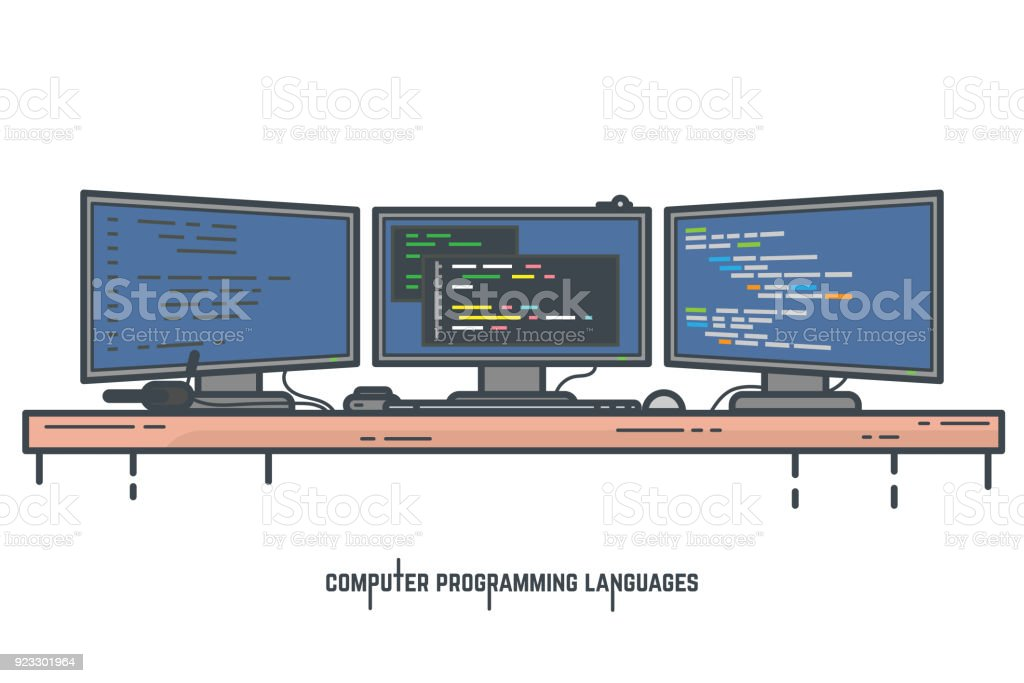 Concept de langages de programmation - Illustration vectorielle