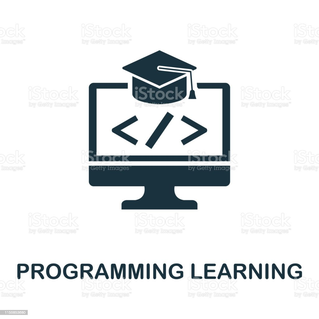 Programming Learning icon. Creative element design from programmer...