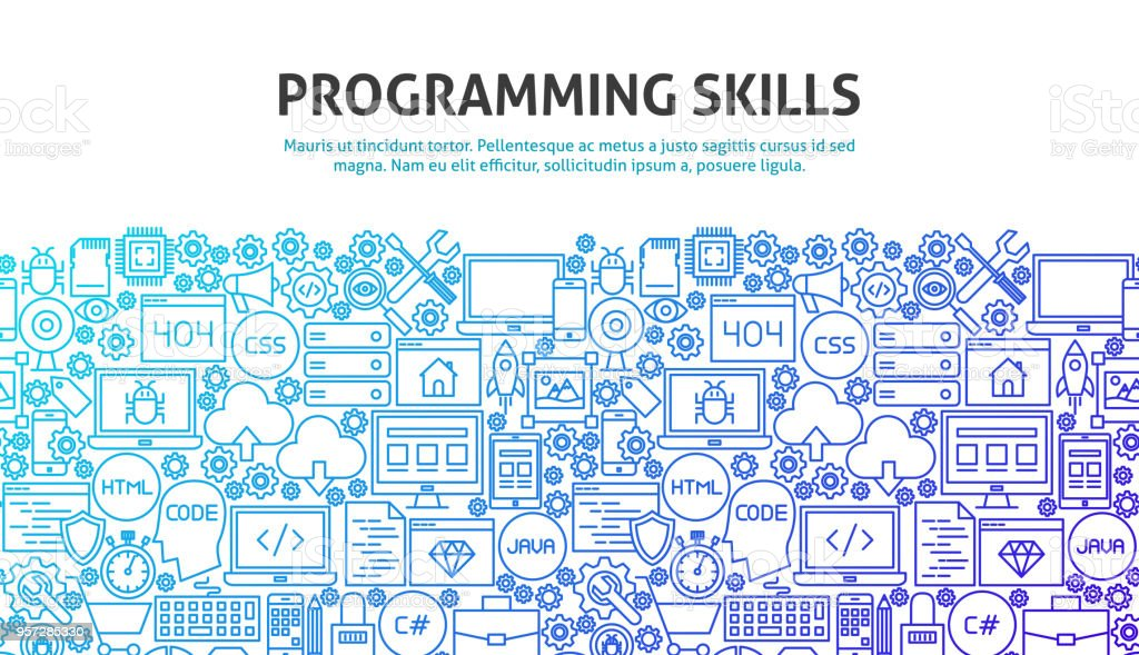 Programming Skills Concept royalty-free programming skills concept stock illustration - download image now