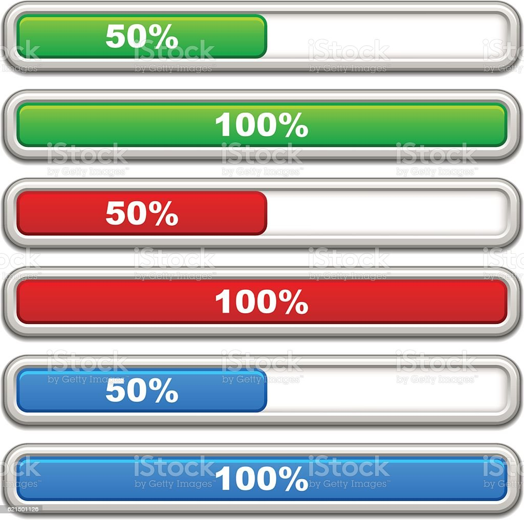 progress bars progress bars – cliparts vectoriels et plus d'images de brillant libre de droits