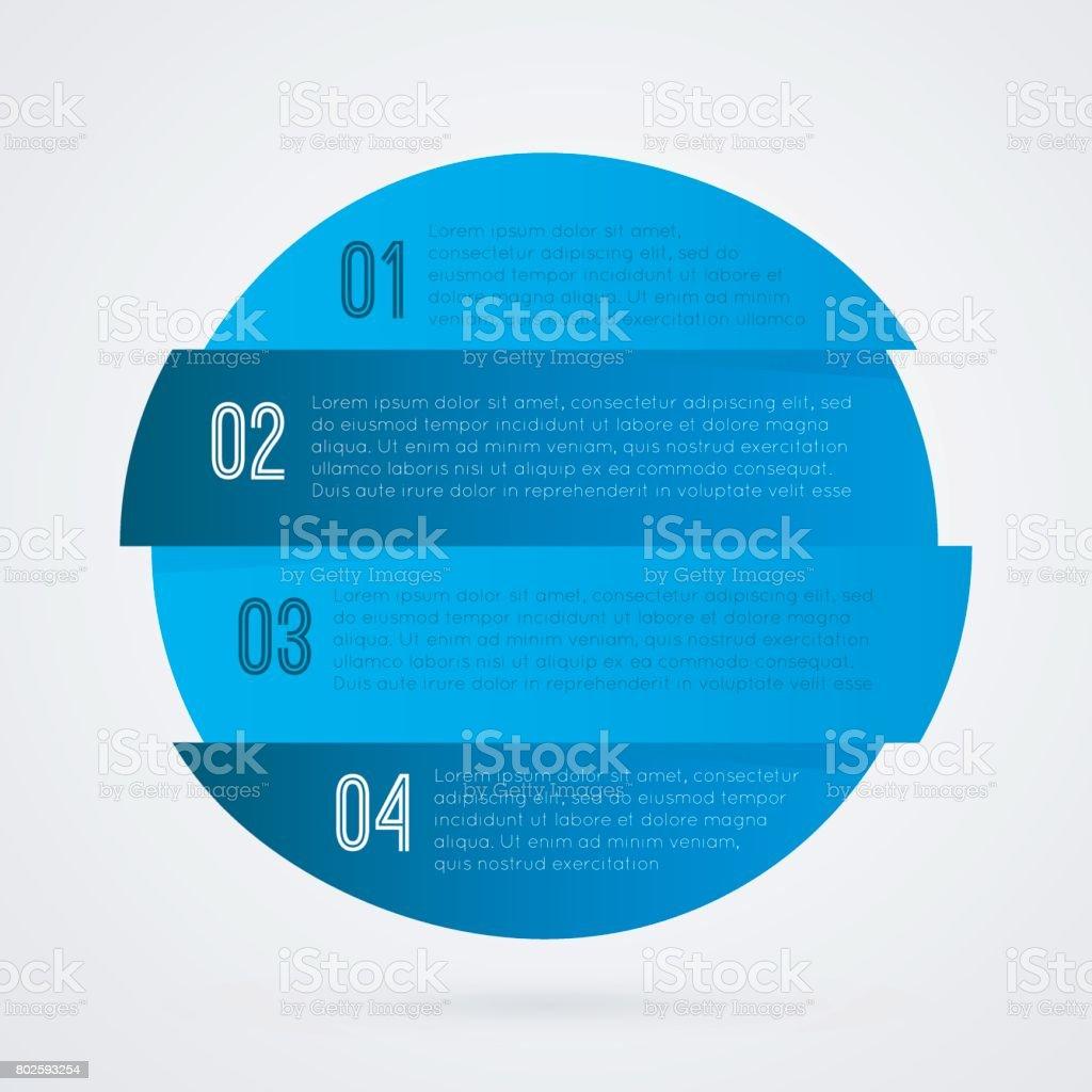 1 2 3 4 Fortschritt Blaue Und Weiße Symbol Ein Zwei Drei Vier ...