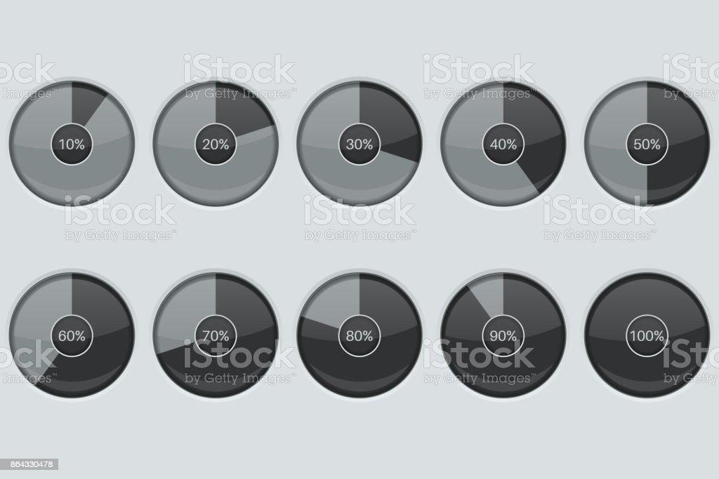 Progress indicator. Round loading icon vector art illustration