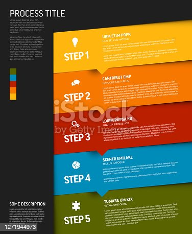 istock Progress template with colorful steps and icons 1271944973