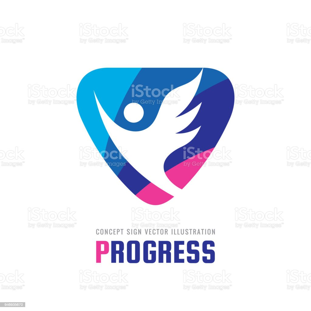progress vector business sign template concept illustration abstract