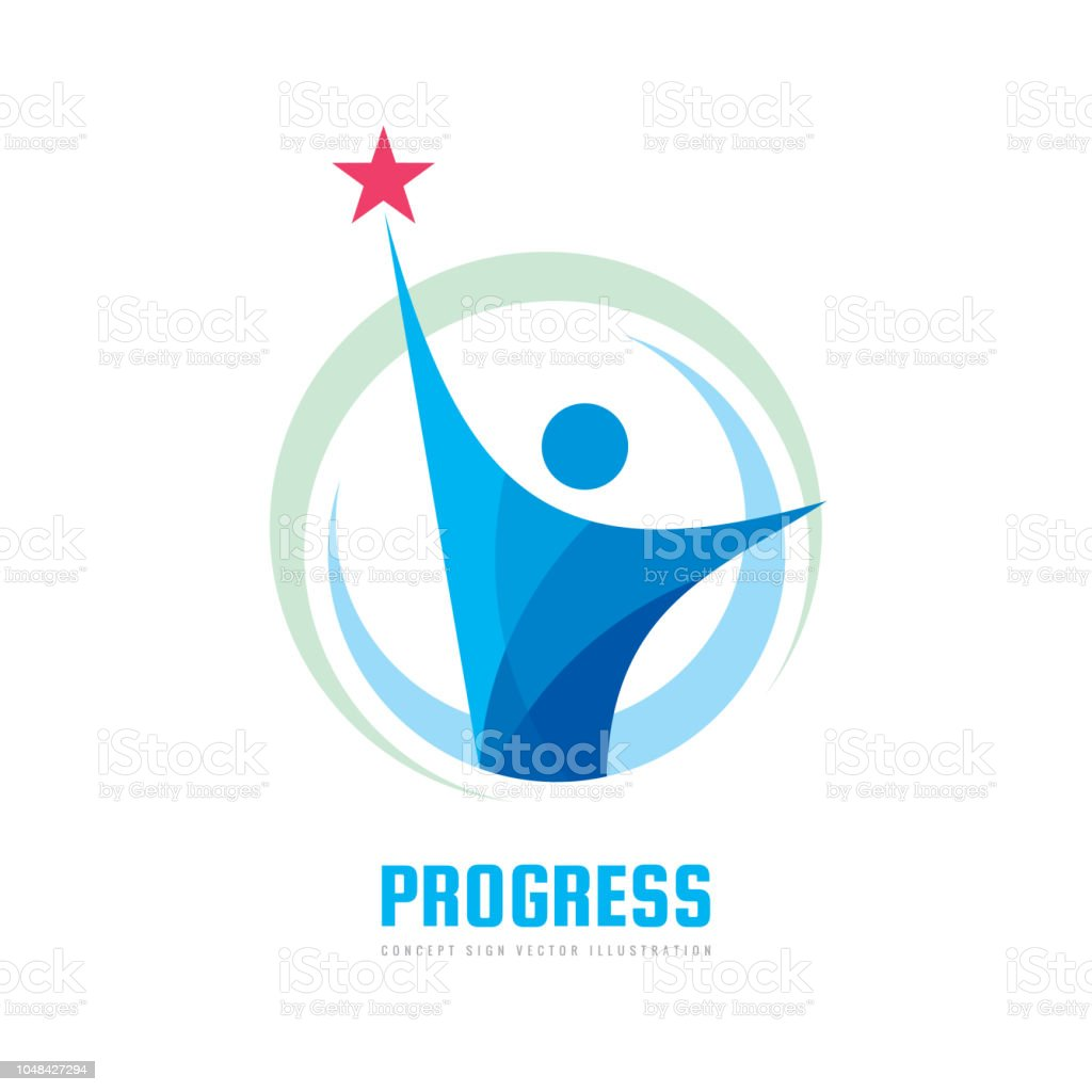 progress vector sign template concept illustration development