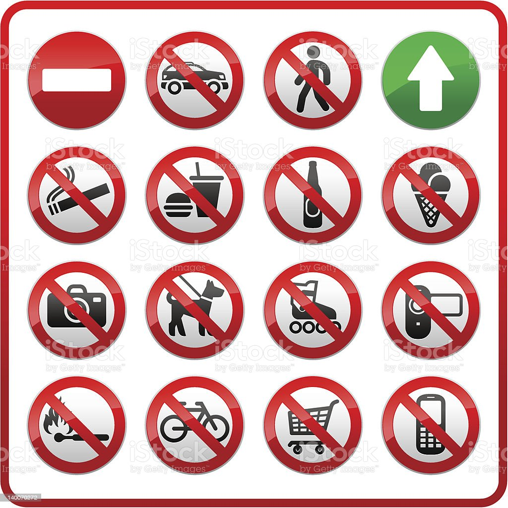 Prohibited set symbols. royalty-free prohibited set symbols stock vector art & more images of alcohol