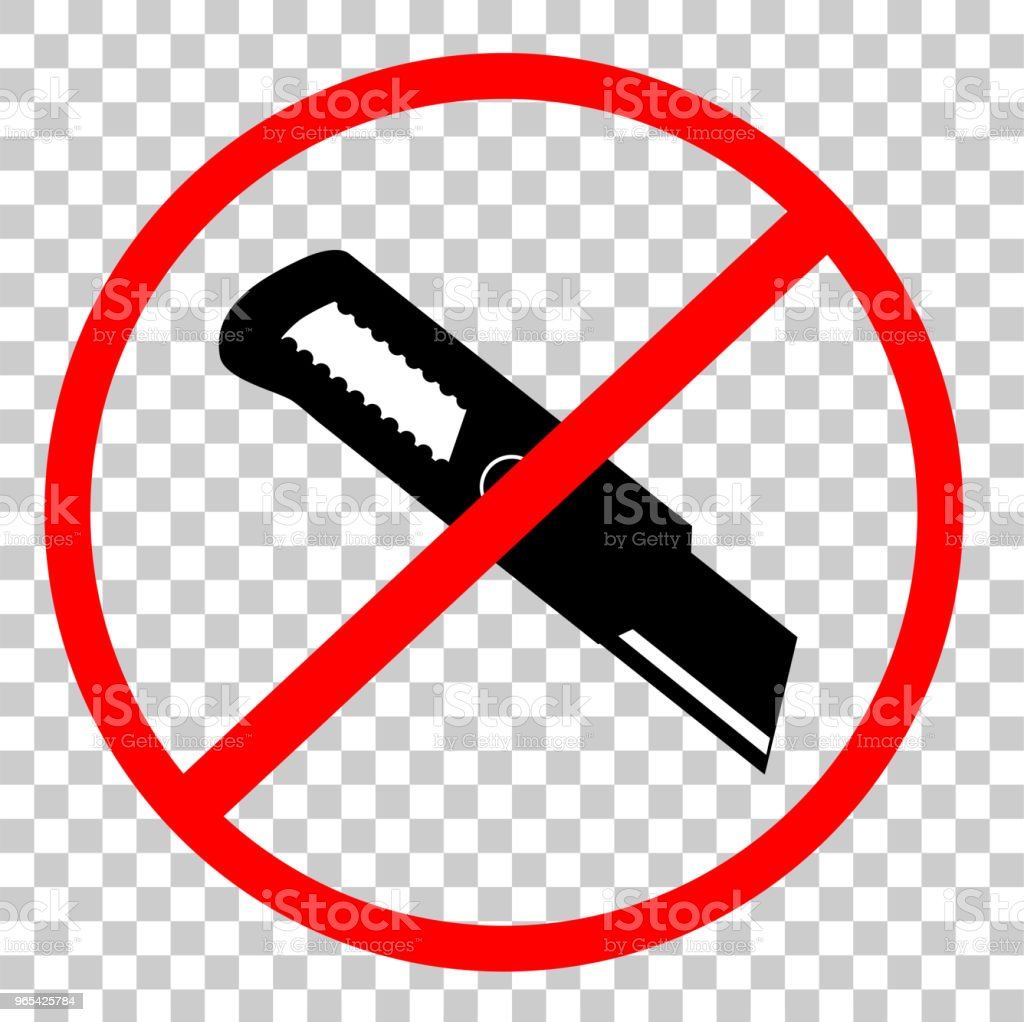 Prohibited Sign Do Not Cut, with Cutter, at Transparent Effect Background prohibited sign do not cut with cutter at transparent effect background - stockowe grafiki wektorowe i więcej obrazów bez ludzi royalty-free
