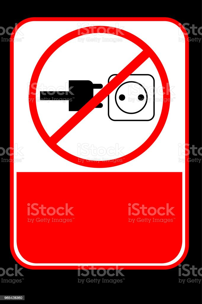 Prohibited Sign, No Charging royalty-free prohibited sign no charging stock vector art & more images of alertness