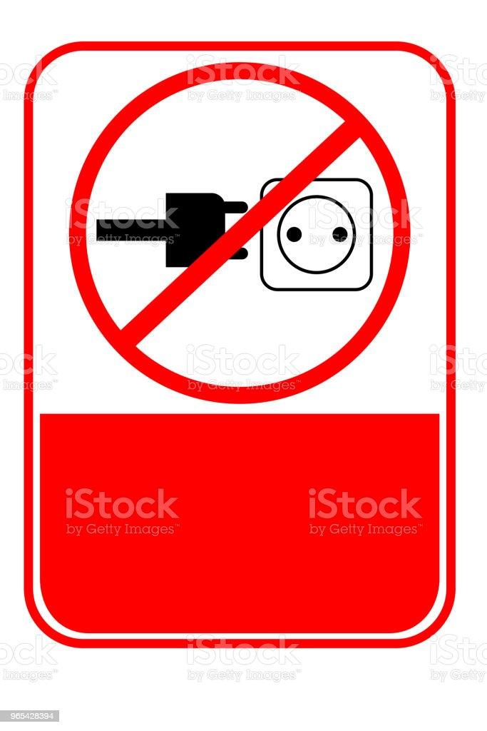 Signe interdit, aucune charge - clipart vectoriel de Cambrioleur libre de droits