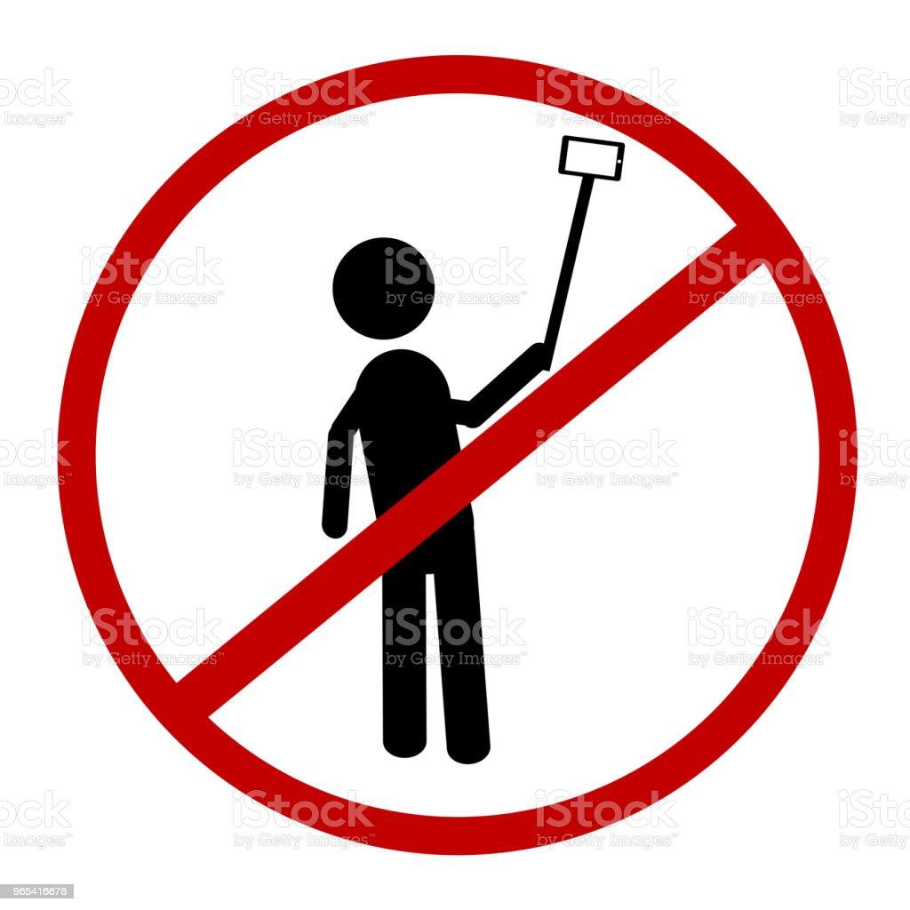 Prohibited Sign, No Selfie (Self Portrait) prohibited sign no selfie - stockowe grafiki wektorowe i więcej obrazów aparat fotograficzny royalty-free