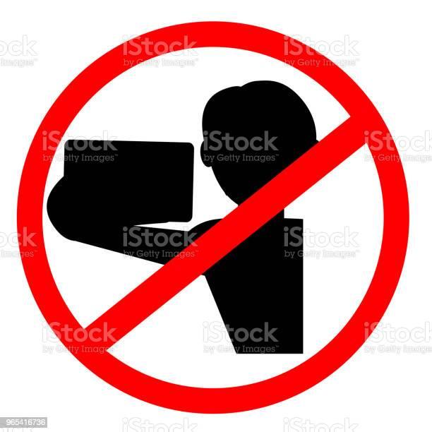 Zakazany Znak Bez Selfie - Stockowe grafiki wektorowe i więcej obrazów Aparat fotograficzny
