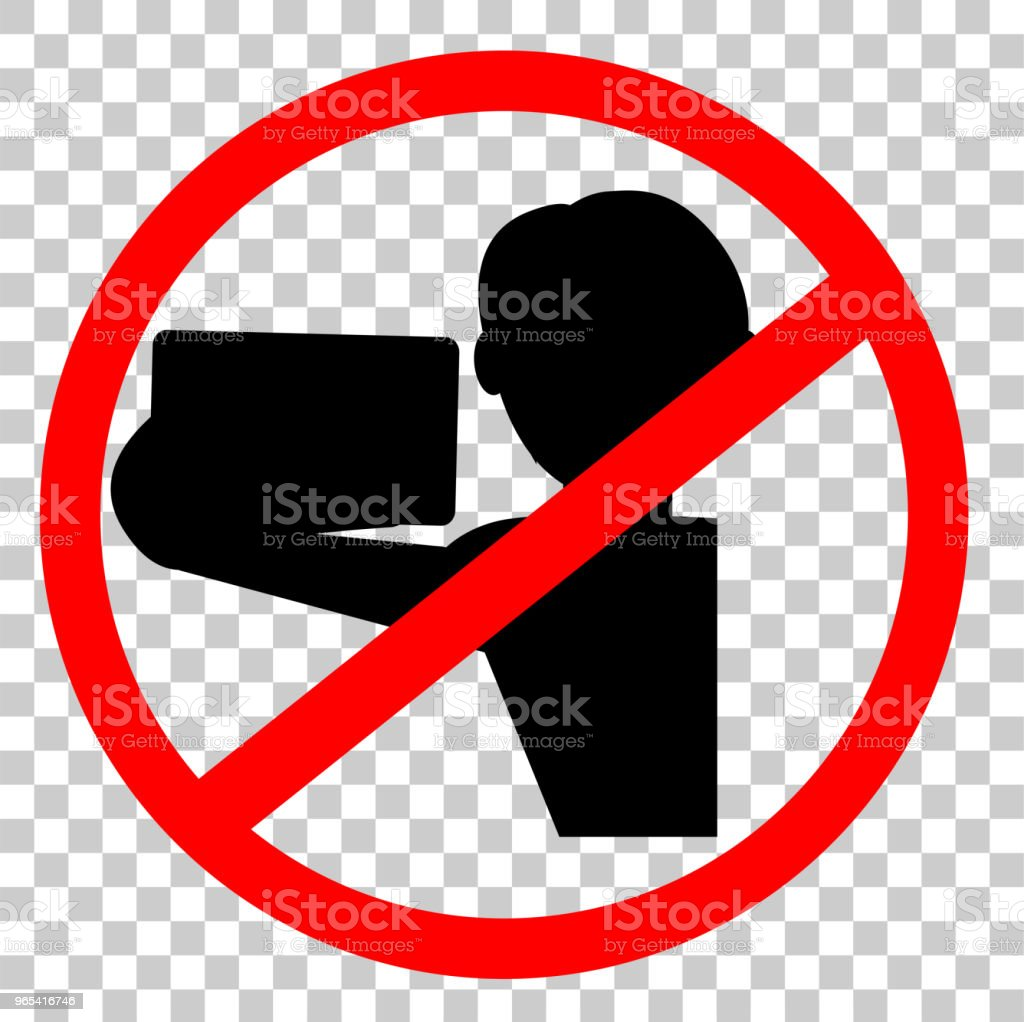 Prohibited Sign, No Selfie (Self Portrait) royalty-free prohibited sign no selfie stock vector art & more images of biological cell