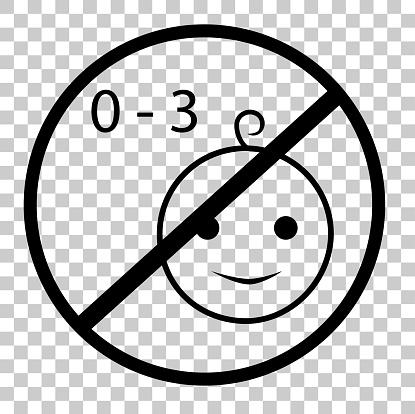로그인어린이 게 적합 하지 않은 금지 3 년 오래 된 투명 효과 배경에서 0명에 대한 스톡 벡터 아트 및 기타 이미지