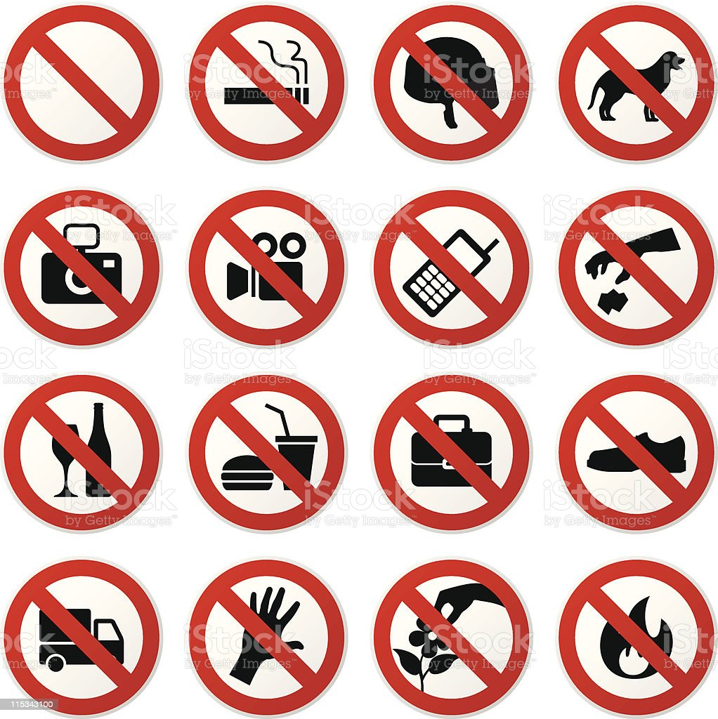 Prohibited Sign royalty-free stock vector art