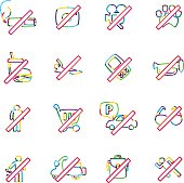 The vector files of prohibited icon set.