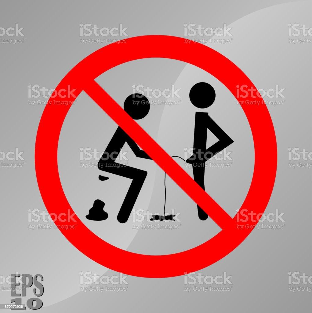 Verbot der Zeichen, scheisse und Pisse, ein Zeichen der hygiene  Lizenzfreies verbot der zeichen