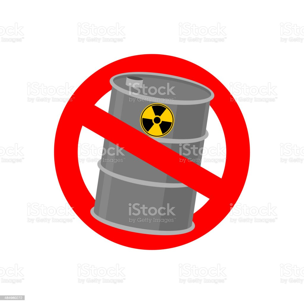 Prohibiting Signs Biohazard Crossed Barrel Of Toxic Waste Vect Stock