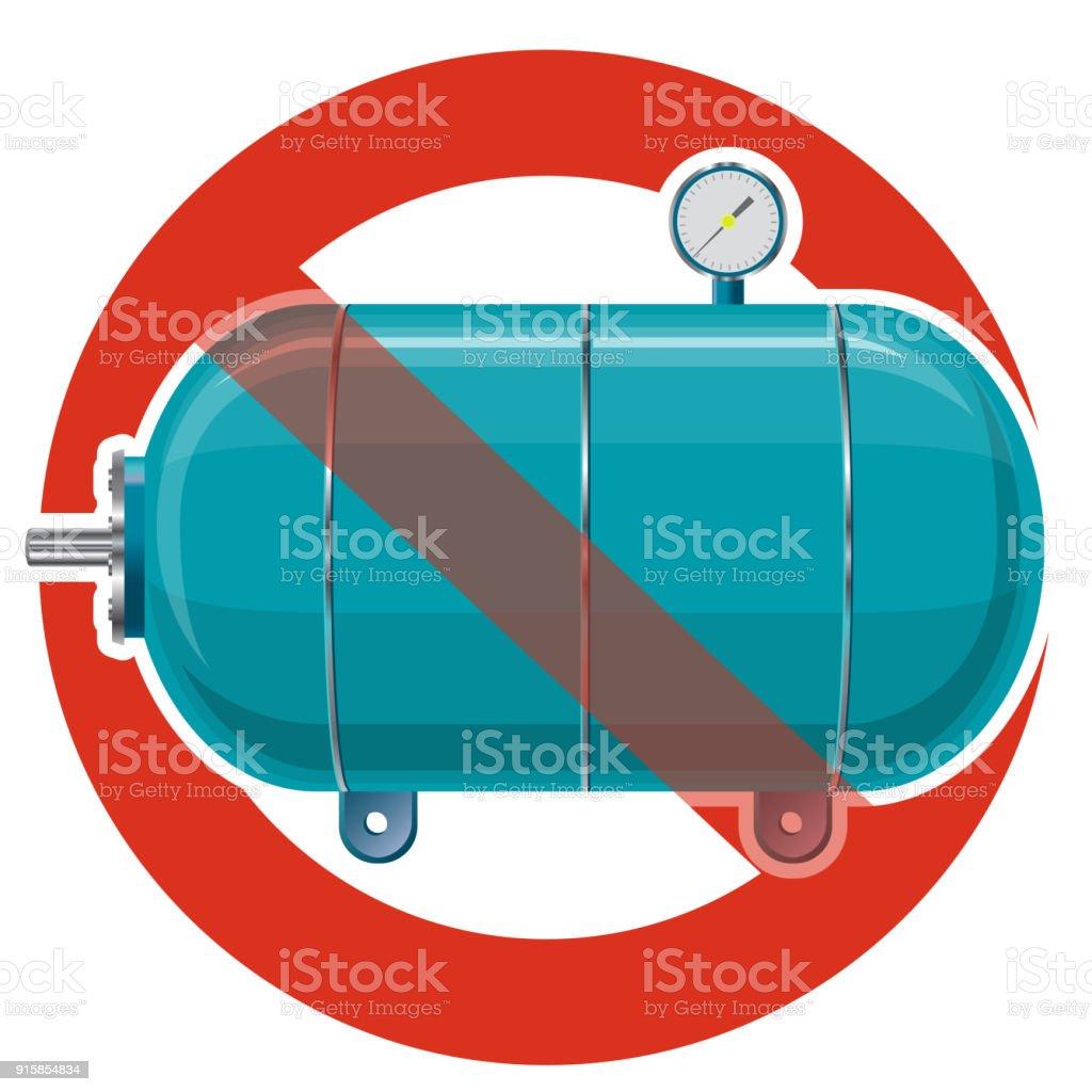 verbot der behälter für wasser gas luft striktes verbot von bau