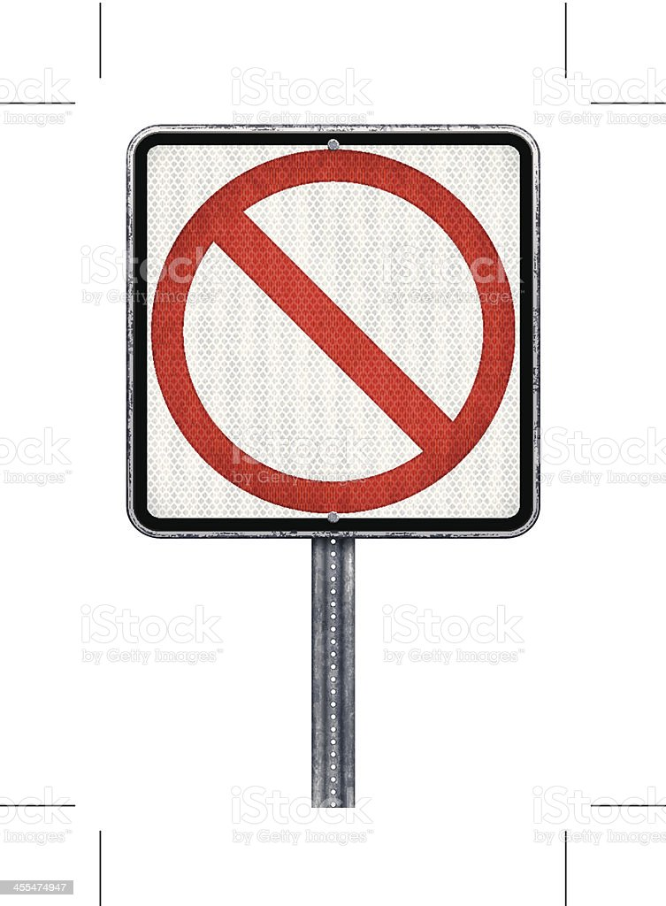 prohibition road sign royalty-free stock vector art