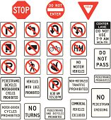 istock Prohibition road signs in vector format 165026585