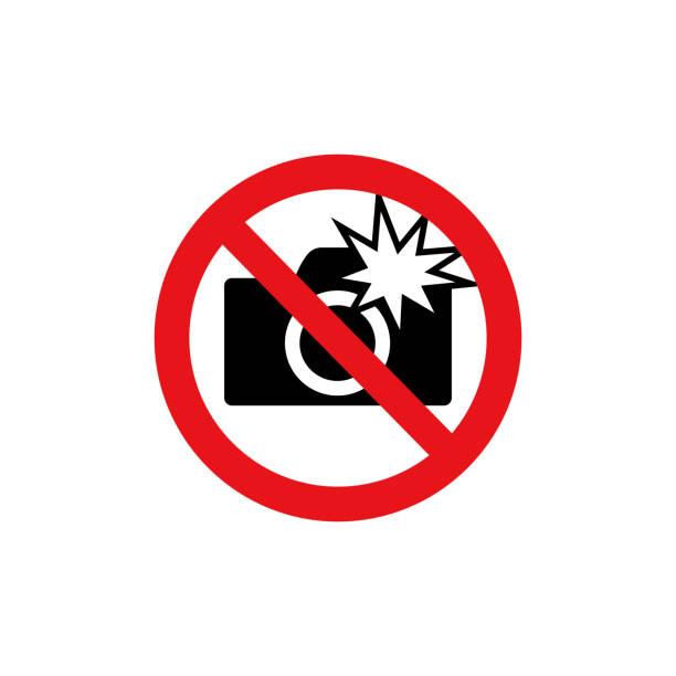 금지 기호 (그림) /do 플래시 사진을 사용 하지 - prohibition stock illustrations