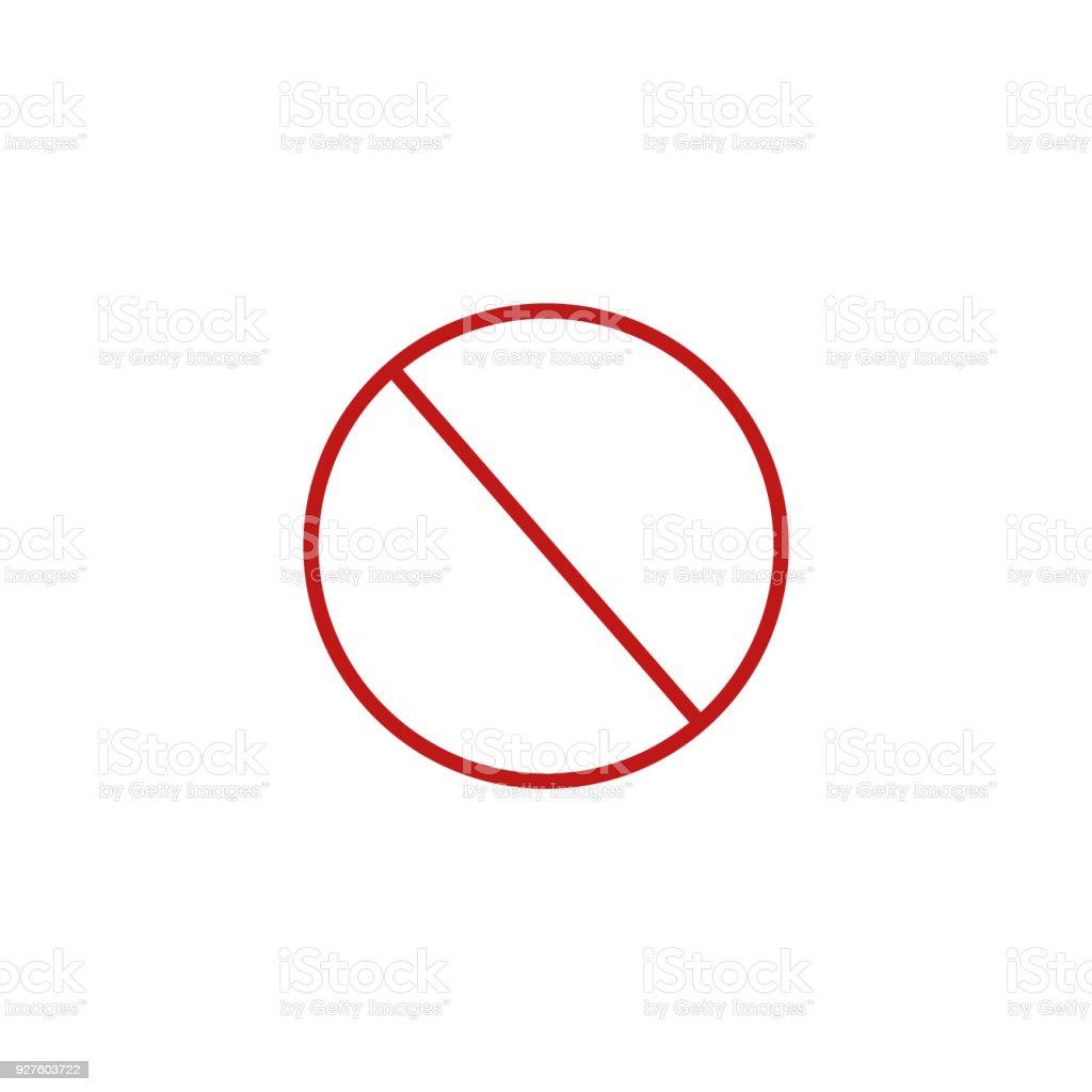Verbot Schild Vorlage Vektorillustration Stock Vektor Art und mehr ...