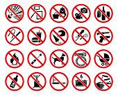 istock Prohibition signs 1179638165