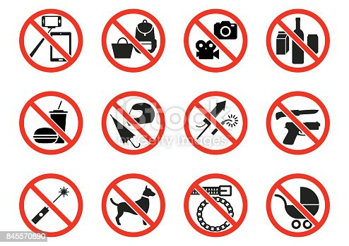 istock Prohibition signs 845570890