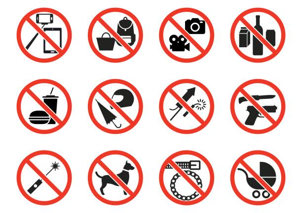Prohibition signs Eps10 vector illustration with layers (removeable) and high resolution jpeg file included (300dpi). exclusion stock illustrations