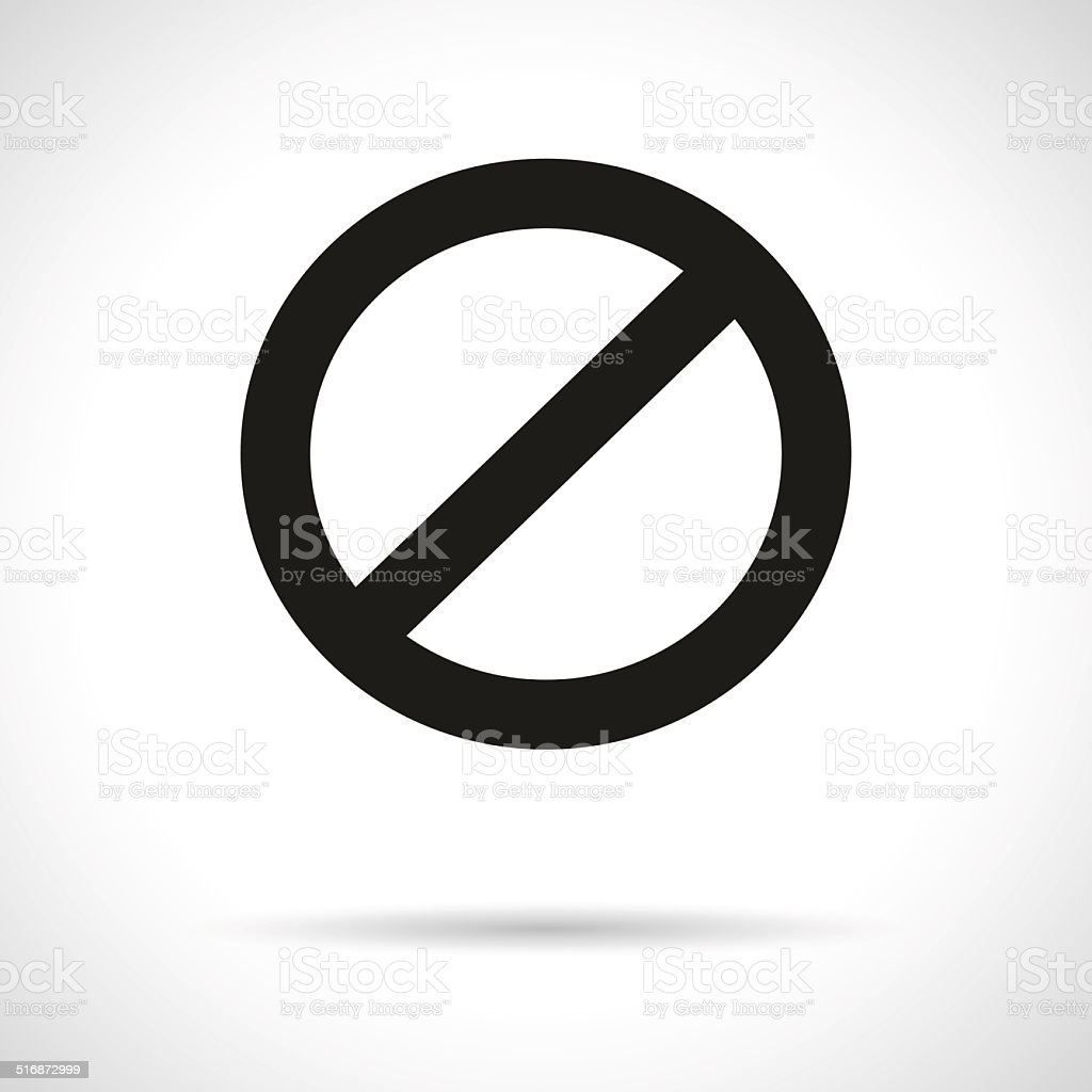 Prohibition symbol vector art illustration