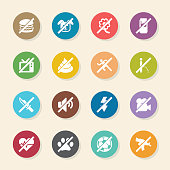 Prohibitions Icons Set 2 Color Circle Series Vector EPS10 File.