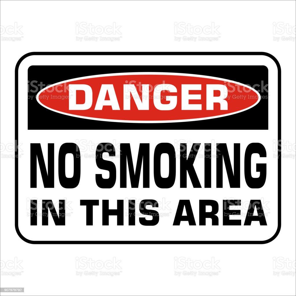 Aucun Panneau Interdit De Fumer Prohobition Ne Vector Illustration
